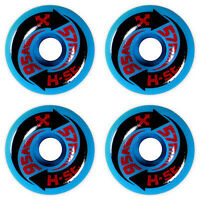 4 x H-STREET ARROW - SKATEBOARD WHEELS - NOS - BLUE/AZUL - 57MM 95A - ARROWS