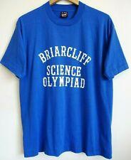 Vtg 80s 90s Briarcliff Science Olympiad Nerd Geek Surf Skate 50/50 T-Shirt L Xl