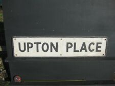 46014 Old Vintage Cast Alloy Not Enamel Sign Street name Notice Upton Place