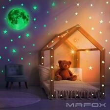 Star Moon Sticker Wall Ceiling Decor Glow In Dark Kids Room Toddler Nursery NEW