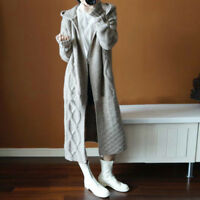 Womens Hoodie Cardigan Coats Outwear Overcoat Knitted Long Sweater Fashion