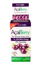 Natrol Acai Berry 1200 mg Dietary Supplement Capsules Extra Strength