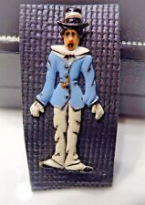 """Vintage Charlie Chaplin Blue/White/Black Enamel Pin~2"""" tall by 1"""" wide~Iconic"""