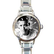 Chester Bennington Linkin Park Rock Music Round Italian Charm Wrist Watch Gift