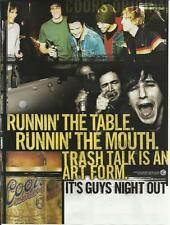 RUNNIN' THE TABLE. RUNNIN' THE MOUTH........ - Coors Beer -  '03 Beer Ad
