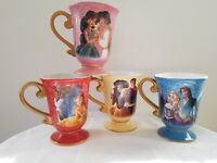 DISNEY DESIGNER FAIRYTALE MUG SET--NEW