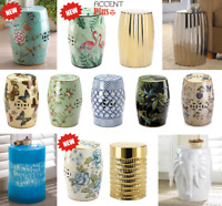 Decorative Ceramic Stool or Side Table Indoor Outdoor Home Decor New