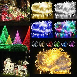 LED Guirlande Lumineuse Lumière Féérique Éclairage Extérieur Décor Noël Fête