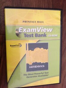 ExamView Test Bank - Prentice Hall Middle Grades Mathematics (CD-Rom)