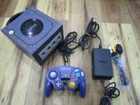 Nintendo GameCube Console Violet w/controller GC Japan w210