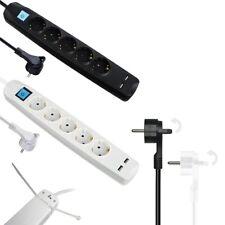 Steckdosenleiste mit 2x USB Mehrfachstecker 5 fach Schalter  Steckdosen Winkel
