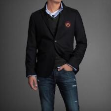 NEW NWT Men ABERCROMBIE & FITCH Blue Lake Arnold Wool Blazer Jacket Size M $400