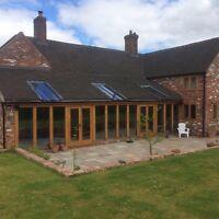 Oak Conservatory made to your design - Air Dried Oak. Garden Room Orangery Sun