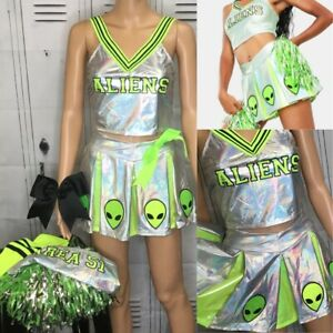 Cheerleading Uniform dolls kill cheerleading Alien costume Adult Med
