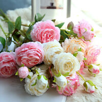 Artificial Flowers Silk Peony Floral Hydrangea Bouquet Flourish Home Decor G6S
