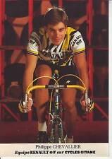 CYCLISME carte cycliste PHILIPPE CHEVALLIER équipe RENAULT ELF 1985
