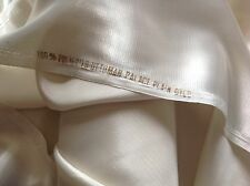 NEW Designer Ivory Cream Reversible Silky Palace crepe De Chine Ottoman Fabric