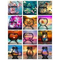 5D DIY Full Drill Diamond Painting Novelty Cup Landscape Cross Stitch Kits Decor
