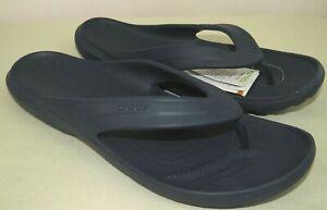 Crocs Classic II Men's Sandals Flip Flops Thongs Navy Blue Size 12 US