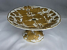 """Meissen Gilt Gold Grape Leaves & Grapes Compote 8 1/4"""""""