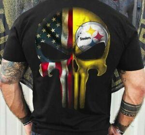 Pittsburgh Steelers T-Shirt NFL Sport Champs Funny Black Vintage Gift Men Women
