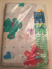 Baby Sprockets FLANNEL RECEIVING BLANKET'S Teddy Bear Hearts Set of 2