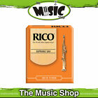 Rico 3 1/2 Strength Soprano Saxophone Reeds - Box of 10 - New Reed Pack of 10