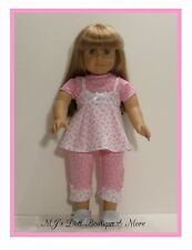 Pink & White Print Capris Set American Girl Doll
