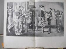 Vintage Print,ARTIST FAILED TURN UP,Evrett Shinn,Harpers,1913