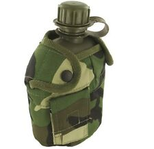 MILITARY WATER BOTTLE belt pouch canteen flask British Army green camo DPM kit