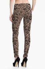 NWT PAIGE PREMIUM DENIM Verdugo Print Ultra Skinny Jeans Size 28 Chai/Black NEW
