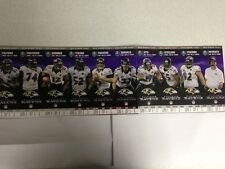 2013 BALTIMORE RAVENS SEASON TICKET STRIP SHEET SET STUB 10 GAMES JOE FLACCO
