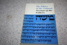 Pirke Aboth The Ethics of the Talmud by a CHRISTIAN R. Travers Herford