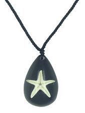 COLLANA stella di mare in resina nera SEALIFE Healing natura CIONDOLO