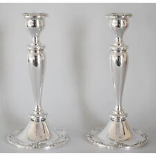 Vintage Melrose 1381 by Gorham Repousse Sterling Silver Pair Candlesticks, 9 ...