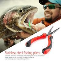 H3E# Stainless Steel Fishing Pliers Sea Fishing Scissors Split Ring Cutters