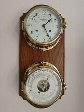 Schatz Royal Mariner Chiming Clock and 1881 Precision Barometer – Mounted Set