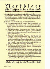 Merkblatt für Reisen in das Ausland-Gedenke, daß du ein Deutscher bist!-1932