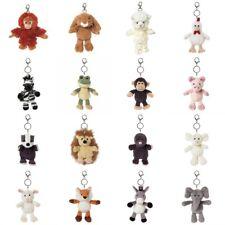 ALL CREATURES CUTE TEDDY ANIMAL SOFT PLUSH KEYRING / BAG CHARM GIFT