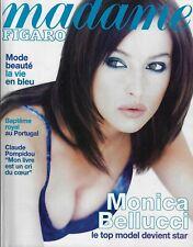 MADAME FIGARO 14/06/1997 MONICA BELLUCCI - MODE ET BEAUTE, LA VIE EN BLEU