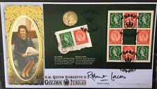 Benham 6.2.2002 Golden Jubilee FDC PSB, Signed by ROBERT LACEY (Royal Author)