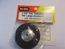 "DU=BRO 1-3/4"" DIA. TAILWHEEL FOR LARGE AIRPLANES (1/8"" AXLE DIAMETER)"