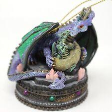 San Francisco Music Box Co. Crystal Visions Dragon Christmas Ornament M. Sarnet