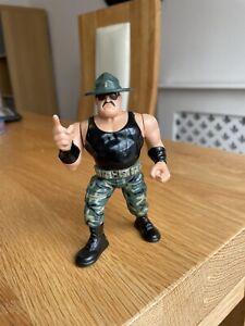Rare WWF Wrestling Sargeant Slaughter Hasbro Figure 90s Vintage