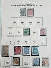 Austria Bosnia-Herzegowina 1879 -1906 Used & mint hinged