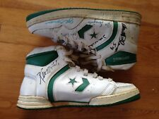 Vintage Converse Cimarrón Basketball Shoes Signed by multiple people Sz. 17