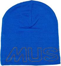 Musto Unisex Evo Slouch Blue Beanie Hat  One Size fits All Fleece lined