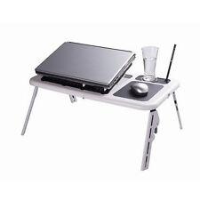 "14"" Laptop Notebook USB 2Fan Portable Flexible Folding Stand Bed Sofa Desk Table"