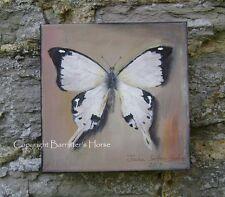 "Mariposa, Original De 6"" X 6"" Acrilico Sobre Lienzo Grueso, arte de pared, imagen de pintura"