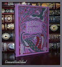 Aesop's Fables Illustrated by Rackham Crane New Sealed Leather Bound Collectible